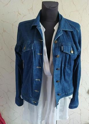 Пиджак жакет блейзер трикотажныая куртка под джинс m&s indigo