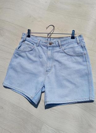 Винтажные джинсовые шорты с высокой посадкой. top jeans.