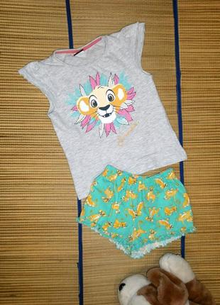 Костюм летний футболка и шорты для девочки 3-4года
