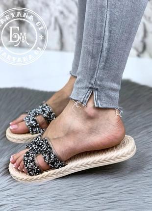 Модные шлепанцы black diamond по суперцене
