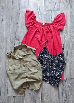 Комплект 3 вещи. платье , рубашка , маечка