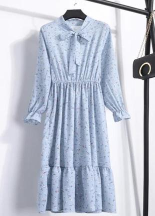 Платье цветочный принт. тренд лета 20211 фото