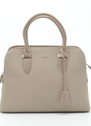 Женская сумка david jones бежевая классическая 5349 cm5349t