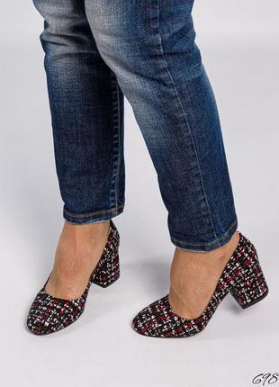 Замшевые туфли лодочки с принтом натуральная замша