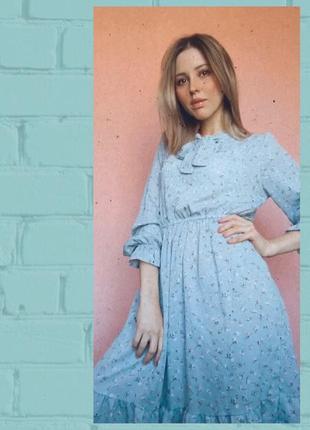 Платье цветочный принт. тренд лета 20215 фото