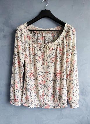Лёгкая летняя свободная блузка на резинках esprit размер м-л