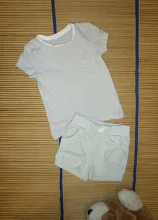 Костюм летний футболка и шорты для девочки 2-3 года