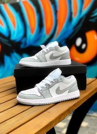 Nike air jordan 1 low grey кроссовки найк джордан женские