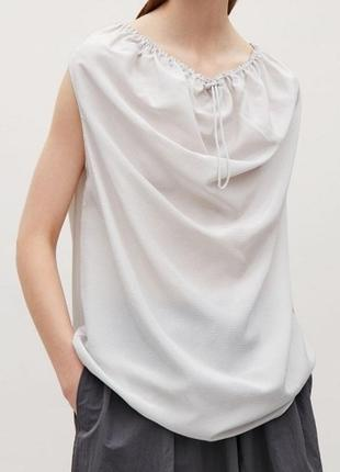 Шелковая  блузка cos размер s,l,xxl блуза шовкова блузка шовк шёлк лён льон