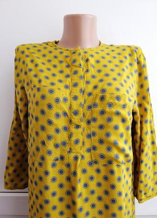 Платье женское жёлтое синее лёгкое тонкое