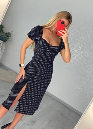 Платье с горошек3 фото