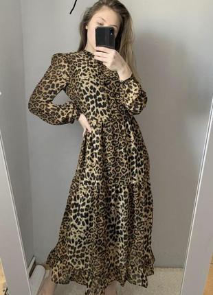 Плаття шифоновe у леопардовий принт na-kd
