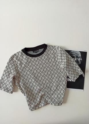 Топ футболка текстурная
