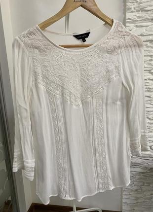 Рубашка блузка с кружевом