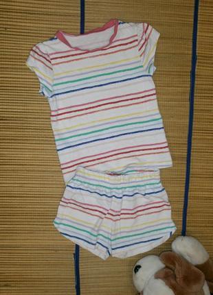 Костюм летний футболка и шорты для девочки 4-5лет