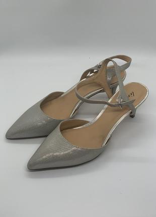 Нежные туфли лодочки босоножки серебряная чешуя