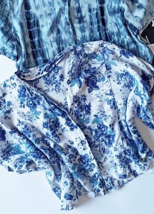 Топ блуза цветочный принт
