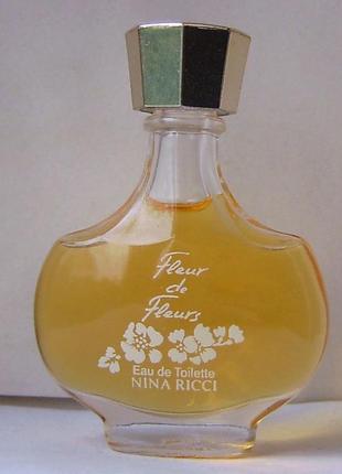 Миниатюра - nina ricci fleur de fleurs - edt - 6 мл. оригінал. вінтаж