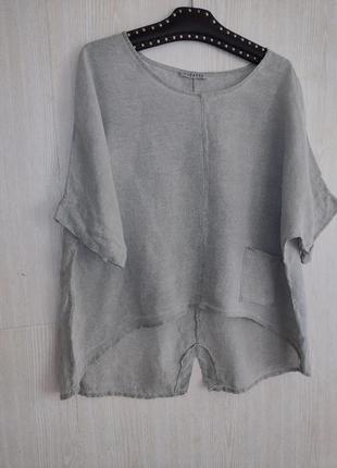 Блузка в стиле бохо лён льон лен