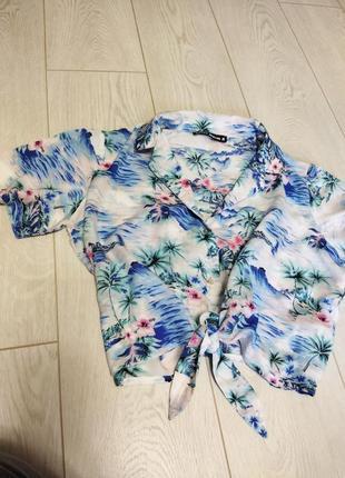 Кофта,рубашка,блуза tally weijl на завязках внизу.