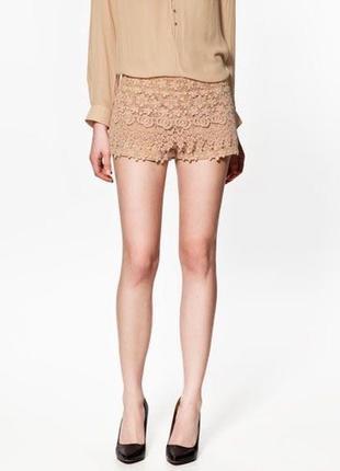 Zara basic крутые кружевные шорты из гипюра  1+1=3 на всё 🎁