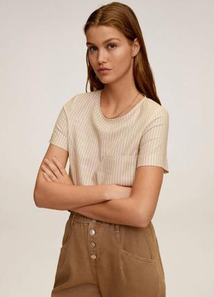 Льнянная блуза/футболка mango