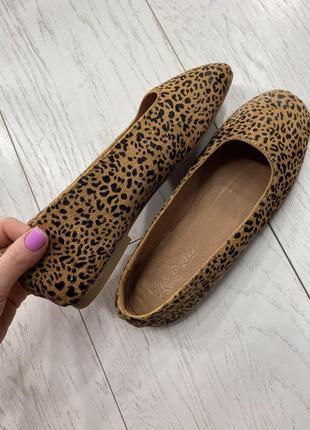 Распродажа! кожа балетки леопард