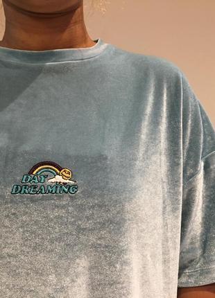 Очень крутая велюровая оверсайз футболка asos