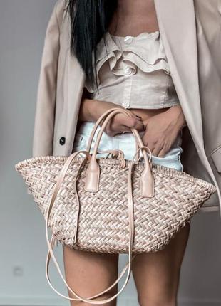 Mango плетенная сумка