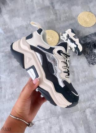 Стильные кроссовки на каждый день, натуральная кожа,замша