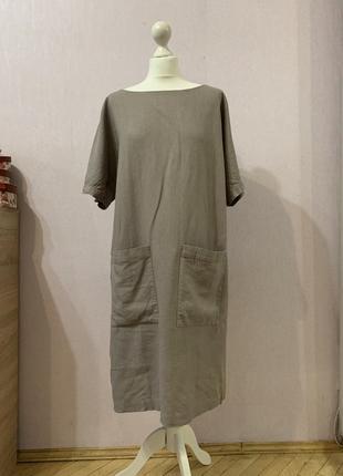 Крутое платье лён льняное оверсайз