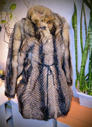 Шуба❄️ новая, до  февраля акционная цена!  мех енот с&a pels (германия)