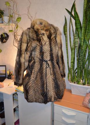 Шуба❄️ новая, в 5 раз дешевле покупки, из натур.меха енот с&a pels (германия