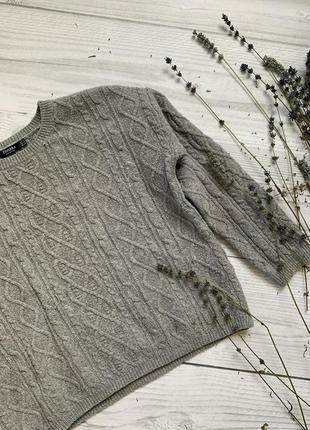 Серый свитер, тёплый свитер, свитер bershka