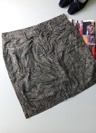 Тонкая коттоновая юбочка в принт 💖💖💖0001