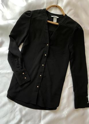 Блузка h&m рубашка на кнопках накидка h&m размер s 36