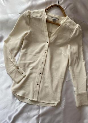 Блузка h&m рубашка на кнопках размер s 36 цвет шампань