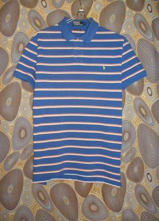 Поло тенниска футболка polo ralph lauren custom fit хлопок полоска