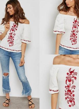 Блуза топ вишиванка dorothy perkins