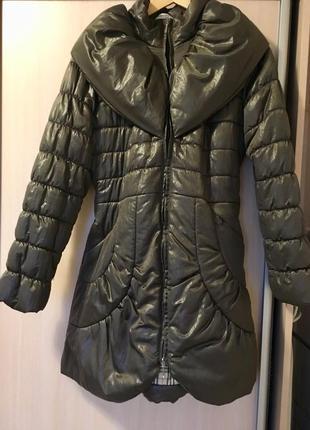 Стильный пуховик эко утеплитель, зимняя куртка