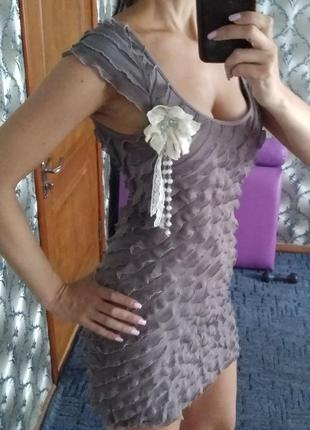 Платье мини вечернее с декольте new look