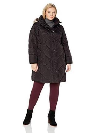 4xl, 60, длинное зимнее пальто пух американский бренд