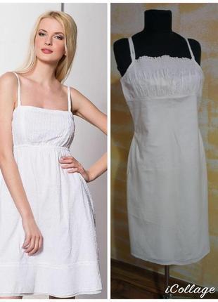 Фирменное базовое котоновое легкое платье сарафан 100% натуральный котон