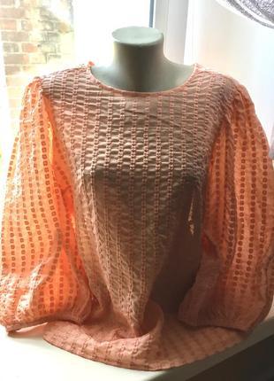 Блуза персиковая нарядная george- xl,xxl.