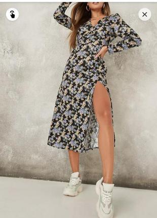 Роскошное платье миди missguided