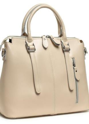Классическая женская сумка из натуральной кожи