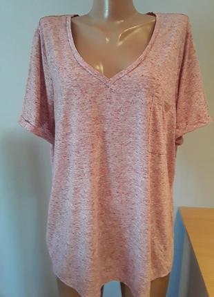 Классная меланжевая футболка большого размера