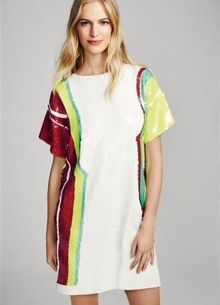 Крутое платье,туника с пайетками,вечернее,большой размер,хлопок next