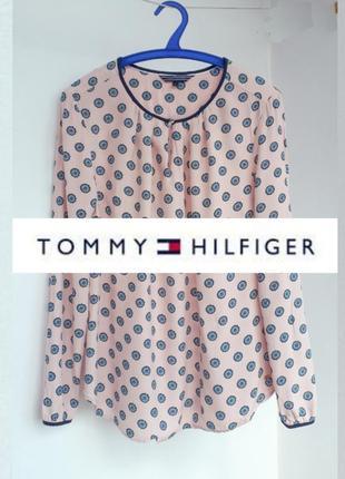 Блуза tommy hilfiger оригинал блузка томми хилфигер оригинал блуза цветочный принт блуза с длинным рукавом
