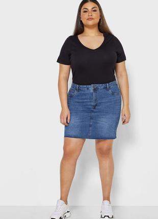 Крутая джинсовая юбка размер 4хl